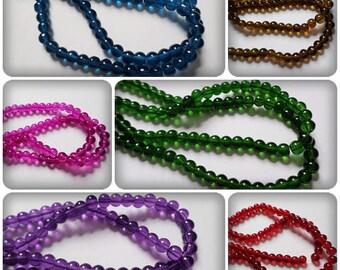 6mm glass beads, Round glass beads, Round beads, Glass beads, Jewellery making, 6mm beads, Craft beads, Round, Glass, 6mm