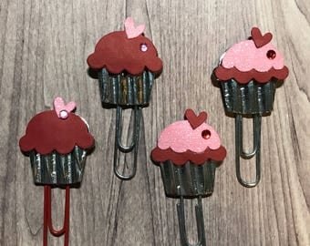 paperclips- valentine cupcake