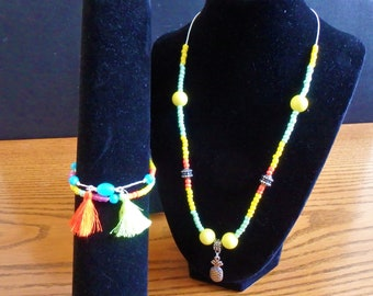 Tropical Pineapple Jewelry Set