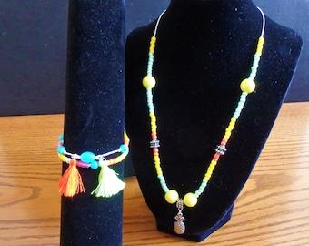 Tropical Pineapple Jewelry Set