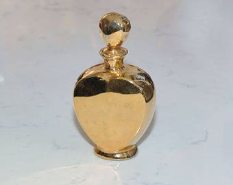 Heart Shaped Gold Perfume Bottle