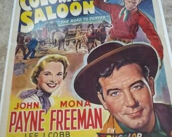 Very rare Colorado Saloon Poster from Belgium