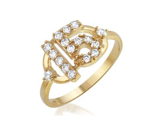 Gold Sweet 15 Anos Ring