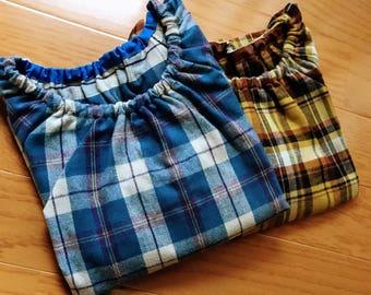 Flannel shirt, blouse, check pattern shirt