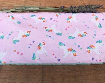 Easter Basket Stuffer - Unicorn Lover Gift - Unicorn Bean Bag - Kids Eye Pillow - Boo Boo Bag - Aromatherapy Gift for Girl - Microwave Bag