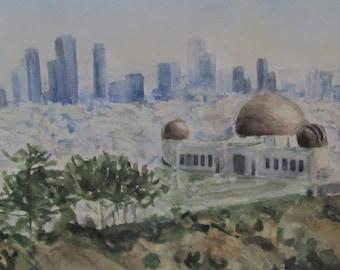 Los Angeles. Watercolor. 11''x8''