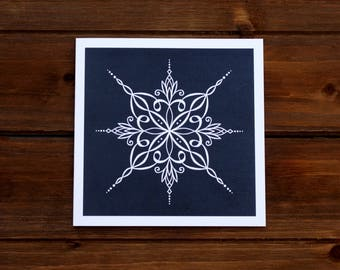 Clearance SNOWFLAKE Greeting Card