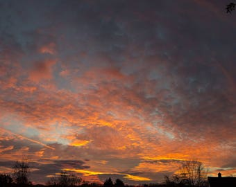 East Tennessee Sunrises 3 - Photography, Appalachia, Cloudy Sunrise, Landscape Photography, Romantic,Wall Art, Wall Print,Nature Photography