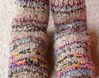 Hand knitted colourful socks