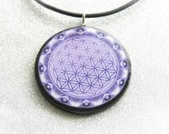 Harmonizer Pendant Necklace = Flower of Life Sacred Geometry Meditation Yoga Clearing Balancing Tool EMF