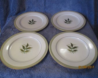 Noritake Greenbay Dessert Salad Plate Set of 4 EXCELLENT