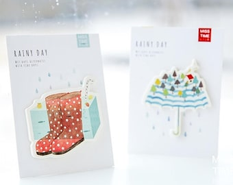 Cute Rainy Day Sticky Notes, Memo Pads