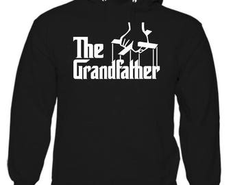 Mens hoodie, The grandfather. novelty sweatshirt, let everyone know you are the don! Grandads Vinyl top.