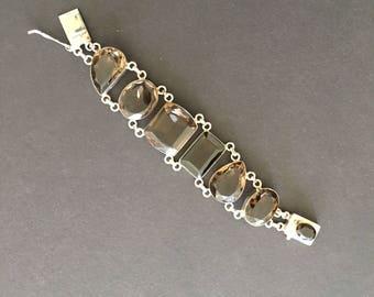 Smoky Quartz in Sterling Silver Bracelet