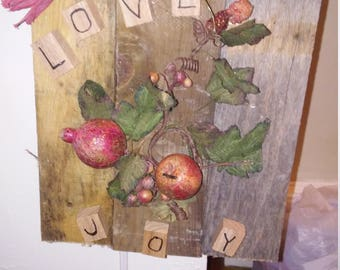 Love and joy wall hangings