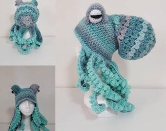 Green Octopus Hat