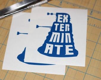 Dr. Who Dalek Sticker | Doctor Who Exterminate Dalek