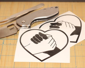 Equality Heart  |  handshake for equality sticker