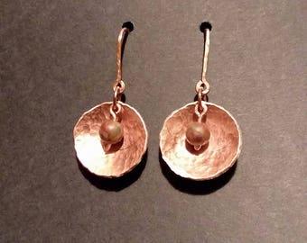 Domed Copper Earrings