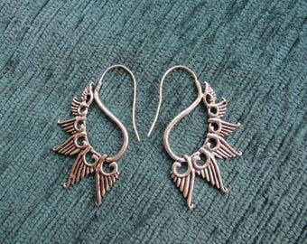 Silver Indian earrings