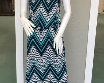 Women's geometric maxi dress