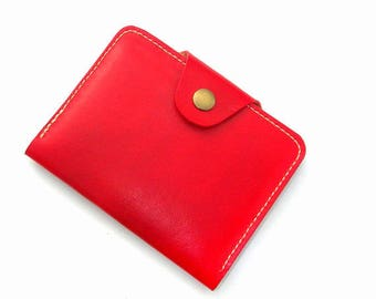 Leather passport wallet. Family passport wallet. Red leather wallet. Passport holder