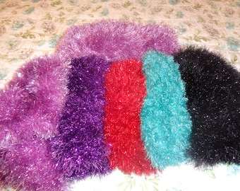 Scarf, Sparkly Fun Fur, choice of colors