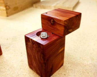 Small handmade ring boxes