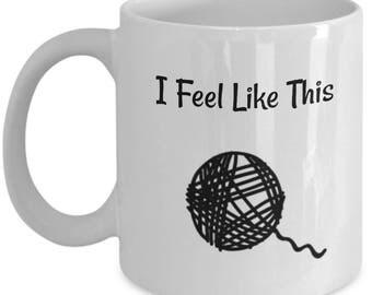 Macrame Coffee Mug - I Feel Like This