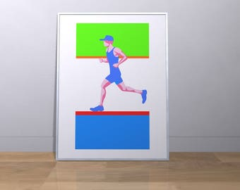 The Runner - Dynamic Wall Decor with sporting theme