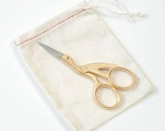 Stork Scissors Gold