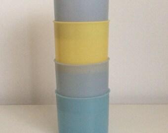 Set of 4 vintage Tupperware tubs