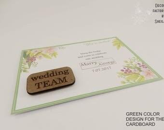 Personalized Badges Wedding Gift Rustic wedding Laser Engraved Wooden Badge