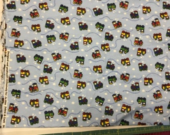 Jo-Ann Fabrics Flannel fabric with Choo-Choo trains