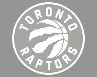 Toronto Raptors 1 White Vinyl Decal