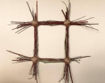 Wall Decor, Wood and Natural Jute Twine, Frame