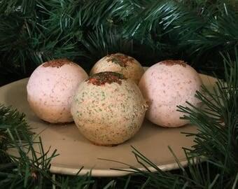Christmas Bath Bombs - Set of 4