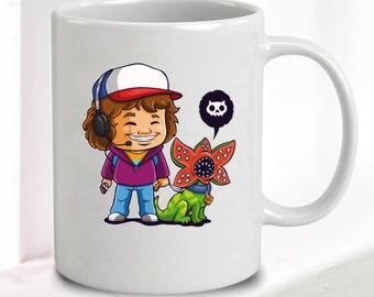 Stranger Things Mug - Dustin & Dart • Great Gift • 10oz Ceramic • Dishwasher Safe