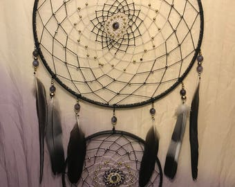 Large 2 ring dream catcher