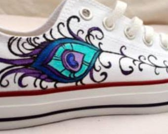 feather hand made converse