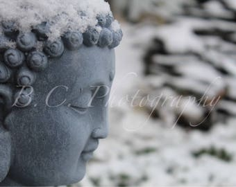 Buddha, Winter, Snow, Peace, Zen, Ohm, Yoga