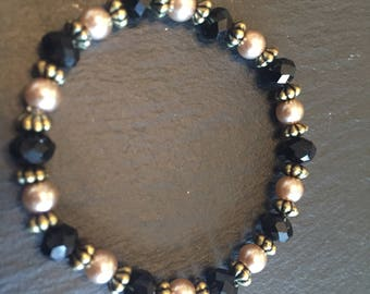 Black and gold bracelet