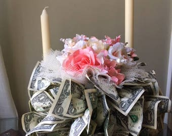 Centerpiece: Ball Made of Money for Weddings, Receptions, Showers, Anniversaries
