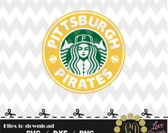 Pittsburgh Pirates coffee svg,png,dxf,shirt,jersey,baseball,college,university,decal,proud mom,disney,softball,college,starbucks,ncaa,svg