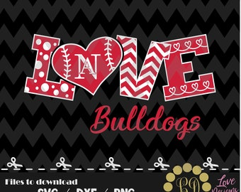 LOVE New Albany Baseball svg,png,dxf,cricut,silhouette,jersey,shirt,proud,birthday,invitation,sports,cut,girl,love,softball,decal,bulldogs