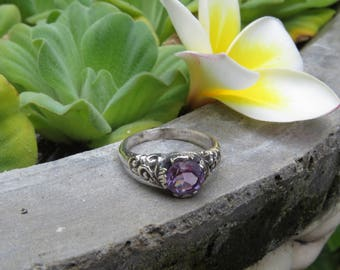Ring in silver and (Amethyst, Citrine or Topaz)