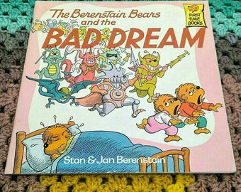 The Berenstain Bears and the Bad Dream Softcover Vintage Book 1988