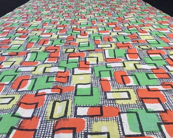 Vintage 60s Fabric 50 x 65 cm: Geometrics 60s