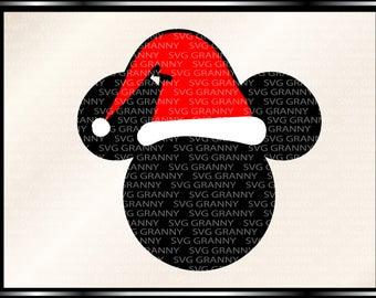 mickey santa, santa hat svg Png Layered Cut File Cricut Designs Silhouette Cameo Party Supply, Disney Vinyl Decal Heat Transfer Iron on