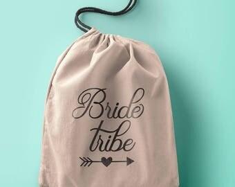 Custom lush in Wedding bag Personalized Bride Tribe gift bag, Bride Tribe favor bag, Bridesmaid gift bag, bridesmaid favor bag, Bride Tribe,